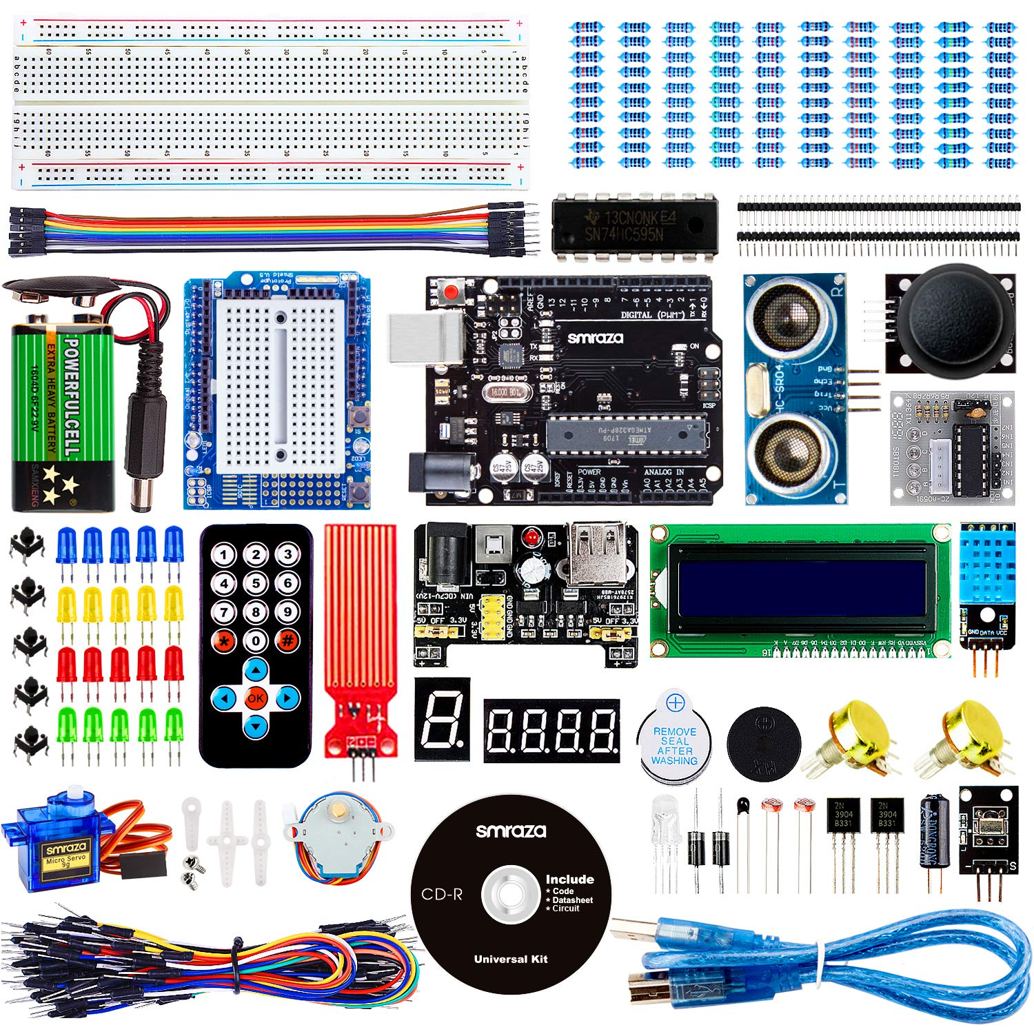Smraza UNO Project Super Starter Kit for Arduino